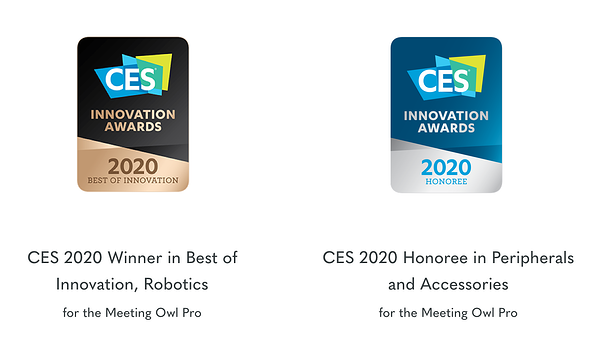 Owl Labs CES 2020 Winner in Best of Innovation, Robotics for the Meeting Owl Pro