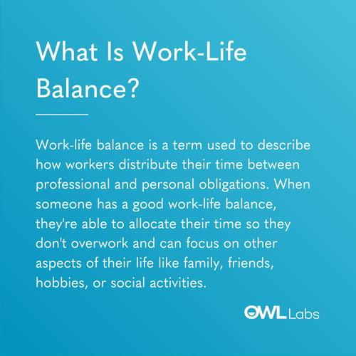 Work Life Balance Definition