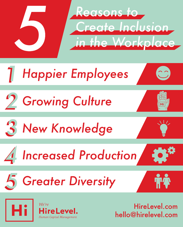 reasons to create inclusion in the workplace