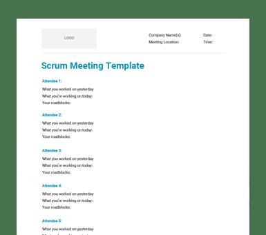 scrum meeting template