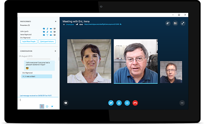 skype for business best video meeting app